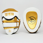 View the Tuf Wear Victor Gel Curved Hook and Jab Pad, White/Gold online at Fight Outlet