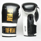 View the Tuf Wear Victor Training Boxing Gloves, Black/White online at Fight Outlet