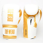 View the Tuf Wear Victor Training Boxing Gloves, White/Gold online at Fight Outlet
