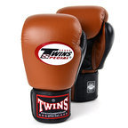 BGVL-3T Twins 2-Tone Brown/Black Boxing Gloves
