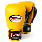 BGVL-3T Twins 2-Tone Yellow/Black Boxing Gloves