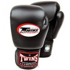View the BGVL-3 Twins Black Velcro Boxing Gloves online at Fight Outlet