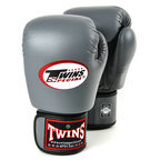 BGVL-3 Twins Grey Velcro Boxing Gloves