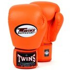 BGVL-3 Twins Orange Velcro Boxing Gloves