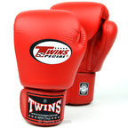 BGVL-3 Twins Red Velcro Boxing Gloves