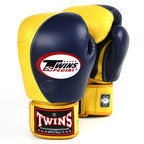 BGVL8 Twins Navy-Gold 2-Tone Boxing Gloves