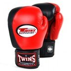 BGVL8 Twins Red-Black 2-Tone Boxing Gloves