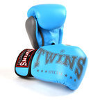 Twins BGVL3-2TA Limited Edition 2-Tone Boxing Gloves, Light Blue/Grey