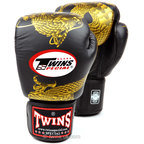 View the Twins FBGVL3-23 Black-Gold Dragon Boxing Gloves online at Fight Outlet