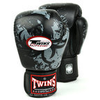 Twins FBGVL3-36 Tribal Dragon Black Boxing Gloves