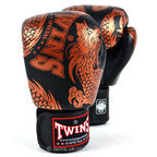 Twins FBGVL3-49 Black-Bronze Flying Dragon Boxing Gloves