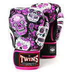 Twins FBGVL3-53 Pink Skull Boxing Gloves
