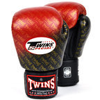 Twins FBGVL3-TW1 Black-Red Colour Fade Boxing Gloves