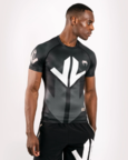 View the VENUM ARROW LOMA SIGNATURE COLLECTION SHORT SLEEVE RASHGUARD - BLACK/WHITE online at Fight Outlet