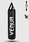 View the VENUM CHALLENGER HEAVY PUNCH BAG + CEILING HOOK - BLACK/WHITE, 130cm 40kg online at Fight Outlet