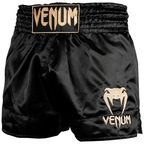View the VENUM CLASSIC MUAY THAÏ SHORT- BLACK/GOLD online at Fight Outlet