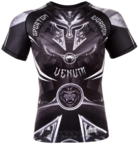 View the VENUM GLADIATOR 3.0 RASHGUARD - BLACK/WHITE - SHORT SLEEVES online at Fight Outlet