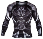View the VENUM GLADIATOR 3.0 RASHGUARD - LONG SLEEVES - BLACK/WHITE online at Fight Outlet