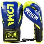 View the VENUM HAMMER PRO BOXING GLOVES LOMA EDITION - LACE - BLUE/YELLOW online at Fight Outlet