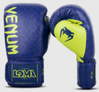 View the VENUM ORIGINS BOXING GLOVES LOMA EDITION - BLUE/YELLOW online at Fight Outlet