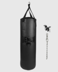 View the VENUM ORIGINS PUNCHING BAG 3ft, 32kg - BLACK/BLACK (CEILING MOUNT INCLUDED) online at Fight Outlet