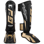 View the VENUM PETROSYAN SHINGUARDS - BLACK/GOLD online at Fight Outlet