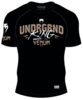 View the VENUM UNDERGROUND KING SHORT SLEEVE RASHGUARD online at Fight Outlet