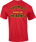 View the Kronk Boxing Thomas Hearns Training Camp T Shirt Red online at Fight Outlet