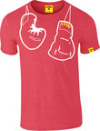 View the KRONK Outline Hanging Gloves Slimfit Tee shirt, Heather Red online at Fight Outlet