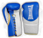 Lonsdale L60 Pro Leather Fight Gloves, Blue White Gold