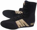 View the Pro Box Junior Boxing Boots Black/Gold NEW! online at Fight Outlet