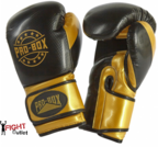 View the Pro Box NEW 'CHAMP SPAR' Boxing Gloves Black/Gold online at Fight Outlet
