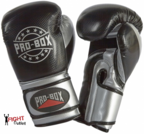 Pro Box NEW 'CHAMP SPAR' Boxing Gloves Black/Silver