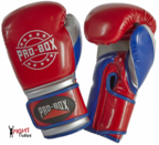 Pro Box NEW 'CHAMP SPAR' Boxing Gloves Red/Blue/Silver