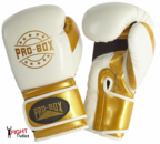 Pro Box NEW 'CHAMP SPAR' Boxing Gloves White/Gold