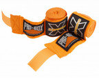 View the Pro Box Senior Stretch Handwraps Orange, 2.5m, 3.5m, 4.5m online at Fight Outlet
