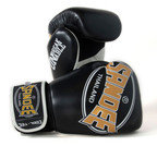 View the Sandee Cool-Tec 3 Tone Synthetic Leather Kids Boxing Gloves Black/Gold/White  online at Fight Outlet