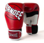 Sandee Cool-Tec Leather Gloves Red/White/Black