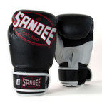 Sandee Cool-Tec Velcro 3 Tone Kids Boxing Gloves Synthetic Leather Black/White/Red