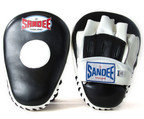 View the Sandee Curved Focus Mitts, Leather - Black/White online at Fight Outlet