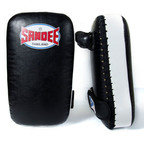 View the Sandee Kids Extra Thick Thai Kick Pads PU Black/White online at Fight Outlet