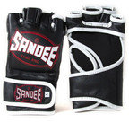 View the Sandee MMA Fight Gloves -Leather, Black/White online at Fight Outlet