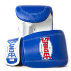 View the Sandee Velcro Bag Gloves Leather - Blue/White online at Fight Outlet