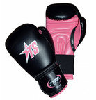 T-Sport Artificial Leather Women's Boxing Gloves Black Pink