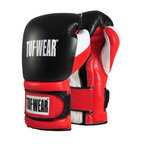 View the Tuf Wear Apollo Velcro Leather Sparring Glove Black/White/Red online at Fight Outlet