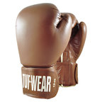 Tuf Wear Classic Brown Leather Safety Spar Boxing Glove