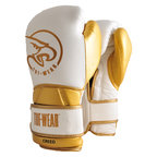 View the Tuf Wear Creed Leather Velcro Boxing Glove  White/Gold online at Fight Outlet
