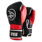 Tuf Wear Creed Leather Velcro Boxing Glove Black/Red