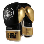 View the Tuf Wear Pegasus Leather Boxing Glove Black/Gold online at Fight Outlet