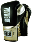 Tuf Wear Sabre Contest Boxing Gloves. Black/Gold